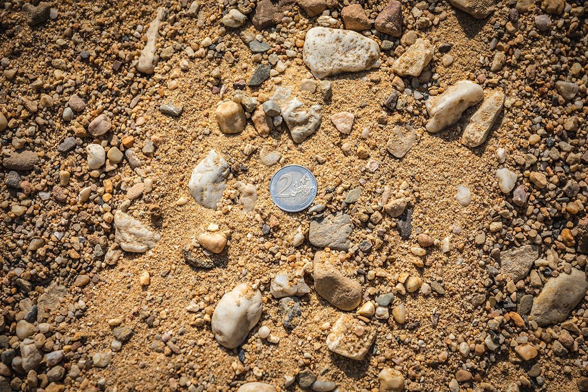 Gewaschener Betonkies 0 - 32 mm