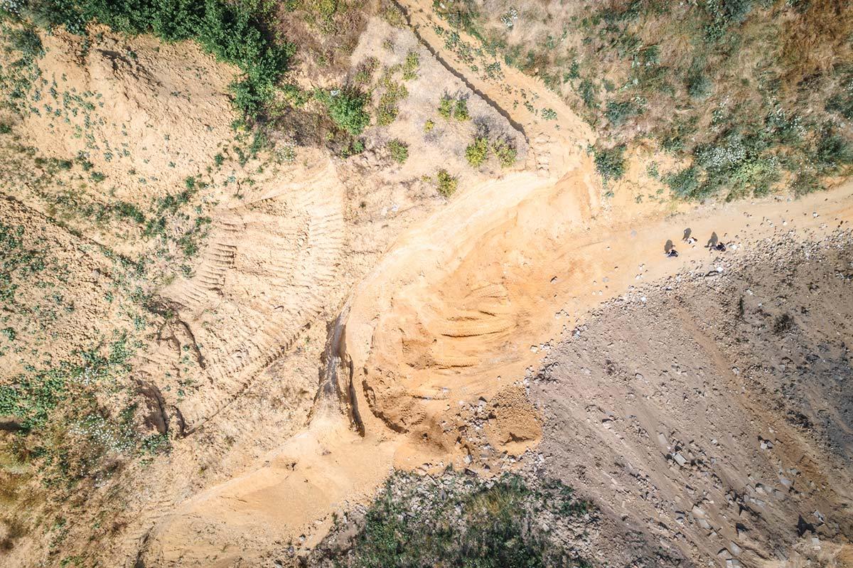 Luftaufnahme unserer Sandgrube in Mönchengladbach