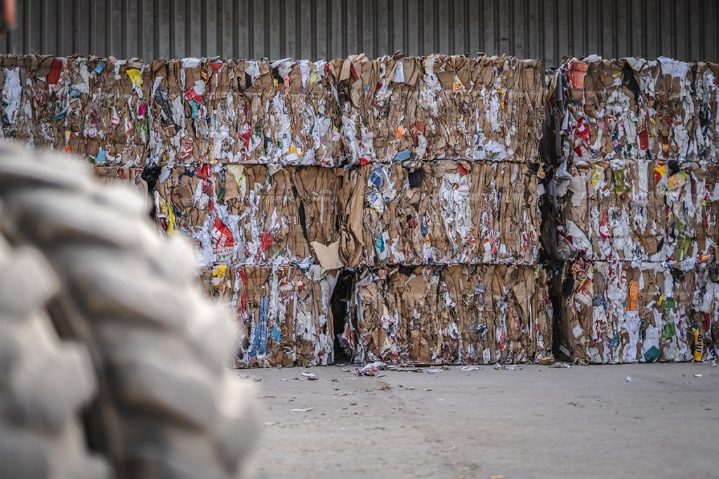 Papier und Pappe Recycling