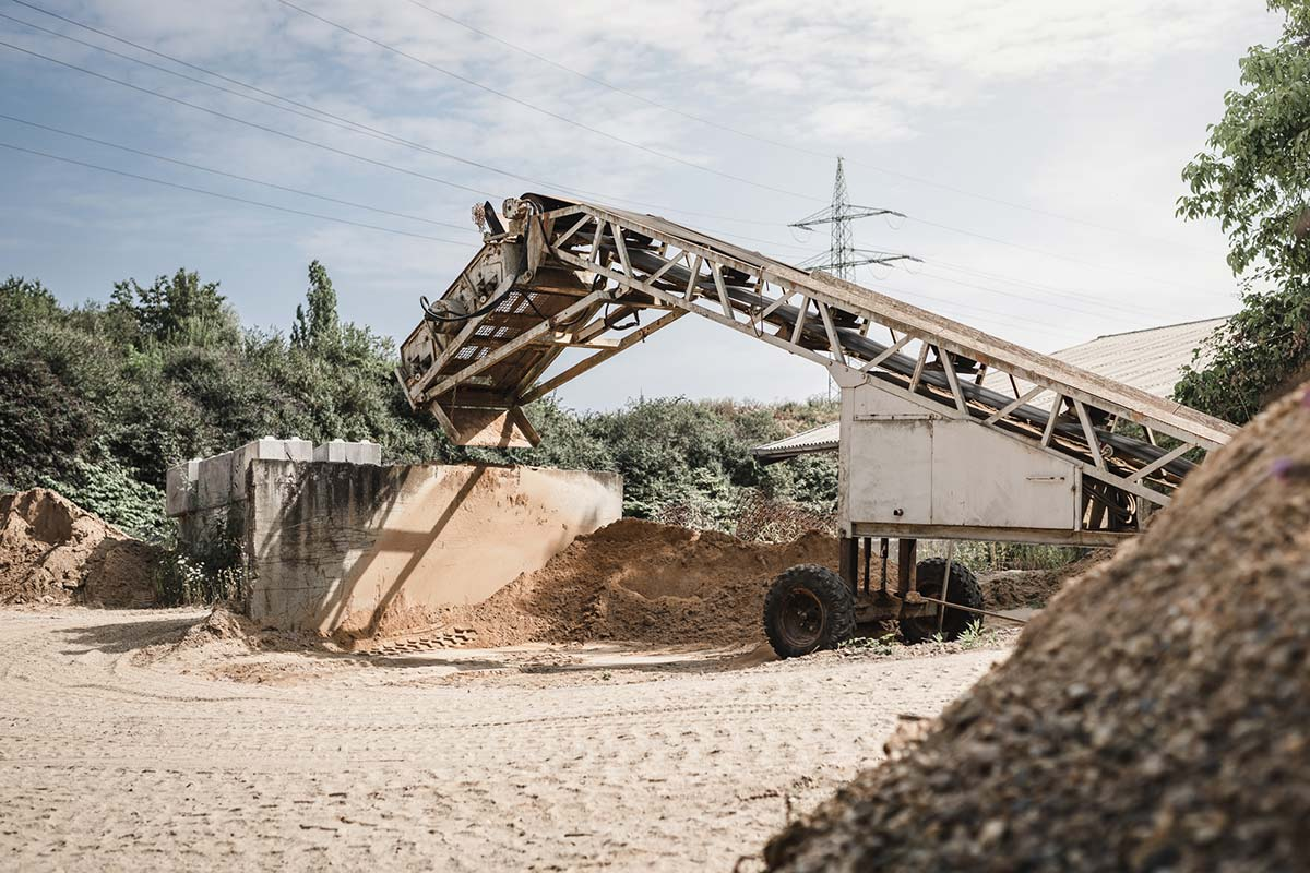 Transportband an unserer Sandgrube